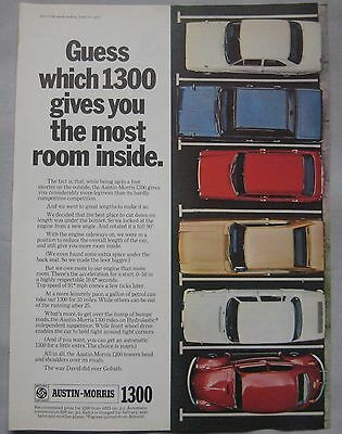 1970 Austin Morris 1300 Original advert