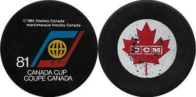 Rare: 1981 Canada Cup Ussr Russia Ice Hockey Official Ccm Game Used Puck