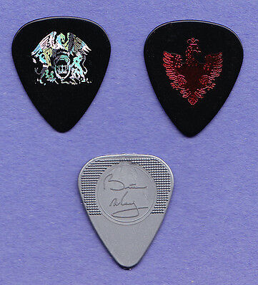 Set of 3 Queen Brian May Signature Guitar Picks - 2005 Return of Champions Tour