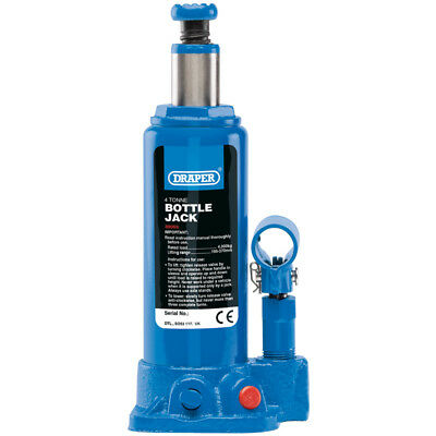Draper 4T 4 Tonne Hydraulic Bottle Jack - Land Rover - 39055