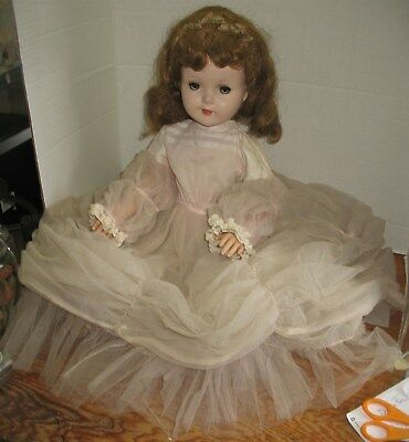 """Vintage Gorgeous 24"""" Tall American Character Doll Formal Gown Original Outfit"""