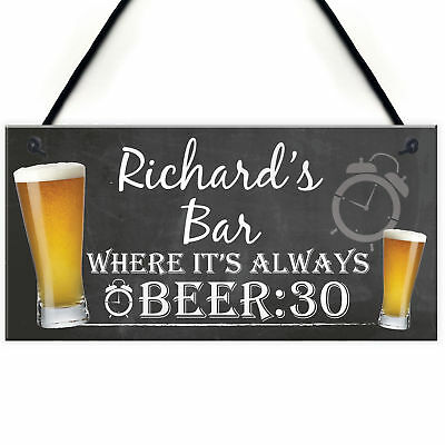 Personalised Beer Man Cave Alcohol Home Bar Pub Hanging Plaque Garage Gift Sign