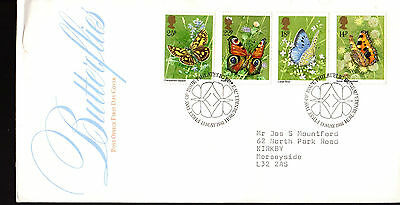 Great Britain - Butterflies - 941-4 Fdc - British Post Office - 1981