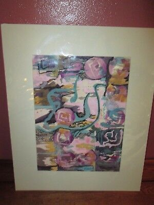 1997 DONNA JOHNSON Pastel and Watercolor on Paper Matted