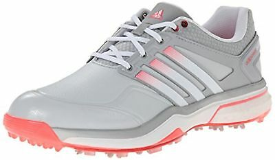 New Womens Adidas AdiPower TR Cool Gray / White / Flash Red Golf Shoes  Sz 9 M