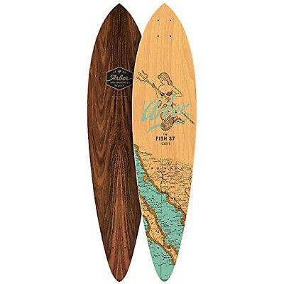 """Arbor Longboard Deck Fish Groundswell 8.5"""" x 37"""" Pintail"""