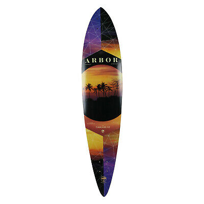 """Arbor Longboard Deck Timeless Pintail Walnut 9.5"""" x 46"""" Photo Collection"""