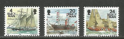 Isle of Man 1996 Historic Ships definitives--Attractive Topical (683-97) MNH