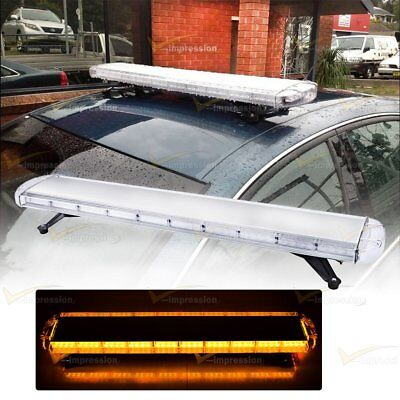 "47"" Inch 88 Led Amber Lamp Bar Emergency Warn Tow Truck Plow Response Strobe"