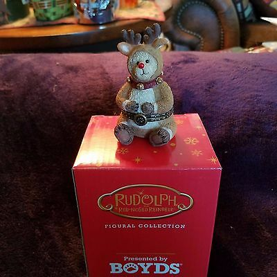 Boyds Bears Treasure Box Rudolph 1st Edition