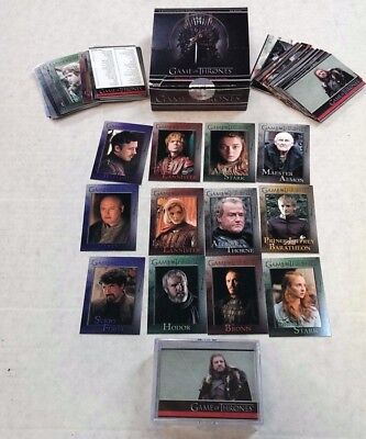 The Game of Thrones / Season 1 / Cards 1-72 / Complete Base Set
