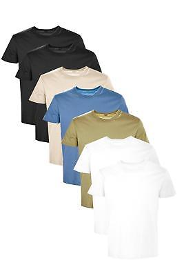 Boohoo Mens 7 Pack Slim Fit Crew Neck T Shirts