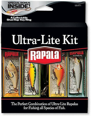 Rapala Ultra Lite Kit Fishing Lures with Collectable Shad Rap Key Ring