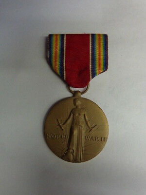 Vintage World War II Victory Medal With Ribbon- Freedom From Fear And Want