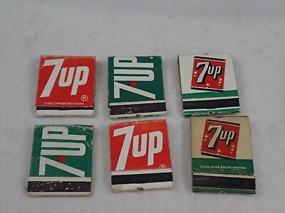 Vintage Lot of  6 7up Like Uncola Matchbook Matchbooks