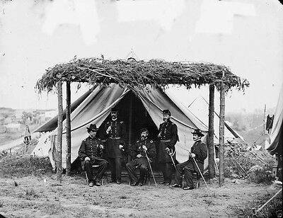 Union General George Meade and Officers Washington DC - 8x10 US Civil War Photo