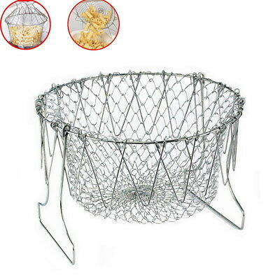 Gracious Stainless Steel Anti-hot Chef Basket Home Kitchen Tools Supplies