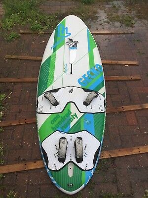 2014 Fanatic Gecko 120 windsurfer with full rig including 7.5m and 8.8m sails