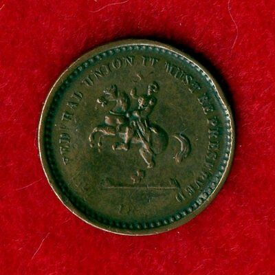 """1863 Federal Union Must Be Preserved """"Our Union"""" & Washington Civil War Token"""