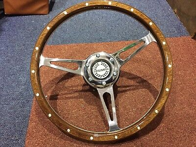 Triumph Spitfire Up To 1976 13 Inch Woodrim Steering Wheel Inc Boss