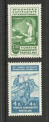Turkey Turkiye ~ 1935 International Women's Alliance (Mint Mnh) Part Set