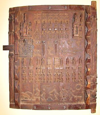 Beautiful Tribal African Carved Wood Dogon Granary door Mali