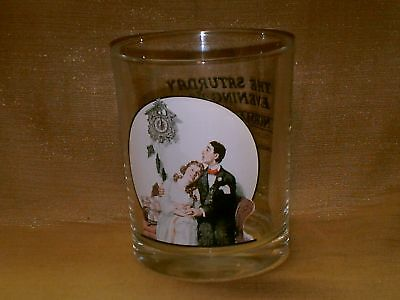 Norman Rockwell Saturday Evening Post Glass-Courting