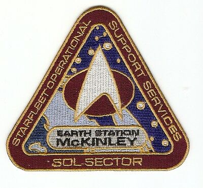+ STAR TREK Aufnäher Patch Earth Station McKinley Starfleet Operational Supp Ser
