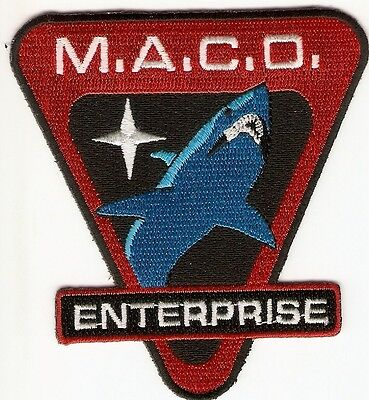 + STAR TREK Aufnäher M.A.C.O. ENTERPRISE Shark