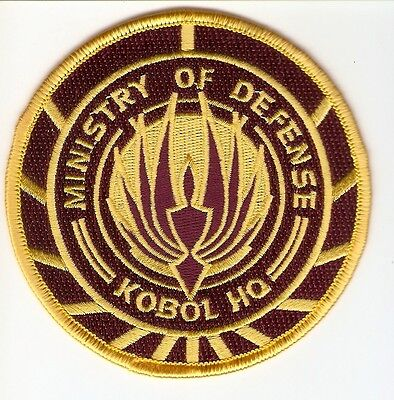 +  BATTLESTAR GALACTICA Aufnäher Patch MINISTERY OF DEFENSE Kobol HQ