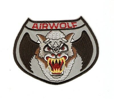 + AIRWOLF Aufnäher Patch  Logo
