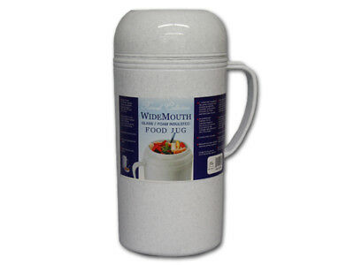 Vacuum Insulated Food Jug Flask Jar Wide Mouth Thermos 33.8 Fl Oz Hot/Cold 1-Ltr