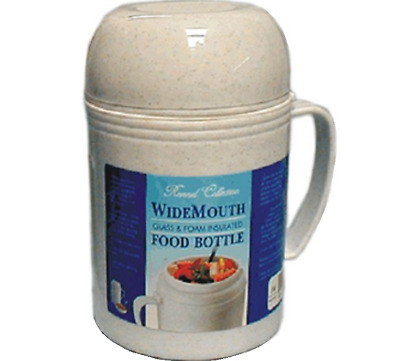 Vacuum Insulated Food Jug Flask Jar Wide Mouth Thermos 20.29 Oz Hot/Cold .6-Ltr