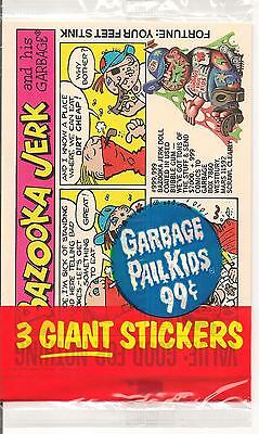 1986 Topps Garbage Pail Kids Series 2 Giant Sticker Pack - 3 Stickers