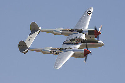 Royal Scale American WW-II Lockheed P-38 Lightning Twin Plans, Templates 74ws