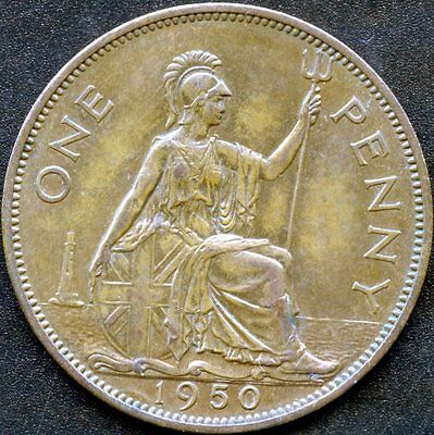 1950 Great Britain 1 Penny Coin