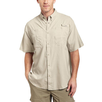 Columbia Men's Tamiami II Short Sleeve Shirt - Small - Fossil