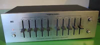 Realistic Five Band Equalizer Micro Vintage Silver - Excellent Condition
