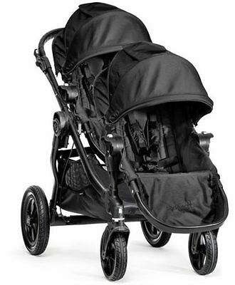 Baby Jogger City Select Twin Tandem Double Stroller Black with Second Seat NEW