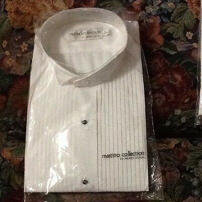 New Martino collection Tuxedo Shirt Size L 34-35
