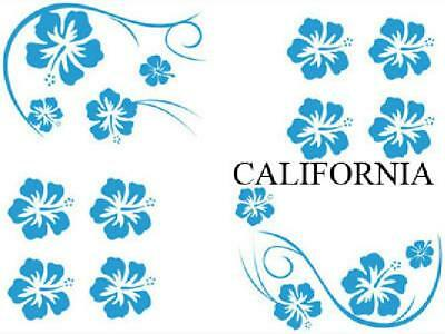 Set Adhesifs -ELEMENT CALIFORNIA- Bleu - Car Deco
