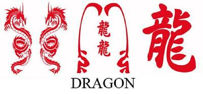 Set Adhesifs -ELEMENT DRAGON- Rouge - PROMO ADN - Car Deco