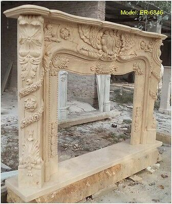 Customize Your Own size NATURAL marble fireplace mantel Surround @PLS ASK PRICE@