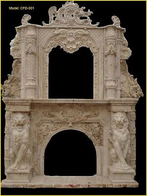 Customize Your Personalized Marble DOUBLE TIER Fireplace Mantel@PLS ASK PRICE@