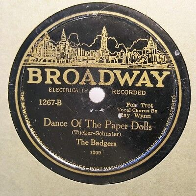 THE BADGERS Dance Of The Paper Dolls/Toymakers Dream BROADWAY 1267 HEAR
