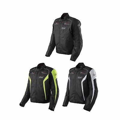 Uber Motorcycle Urban Short Textile Waterproof Breathable CE Armoured Jacket