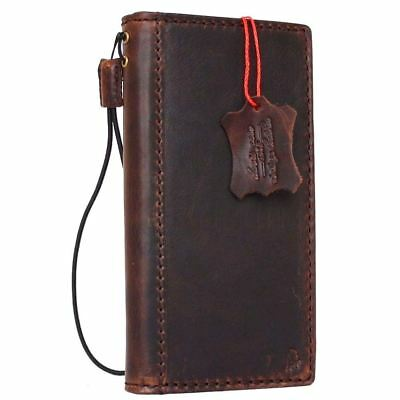 vintage genuine real leather case for Google Pixel XL 2 book wallet cover strap