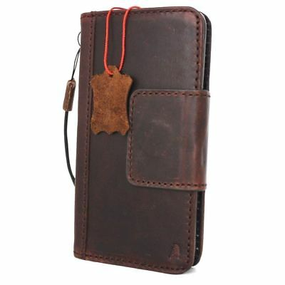 vintage genuine real leather case f Google Pixel XL 2 book wallet cover magnetic