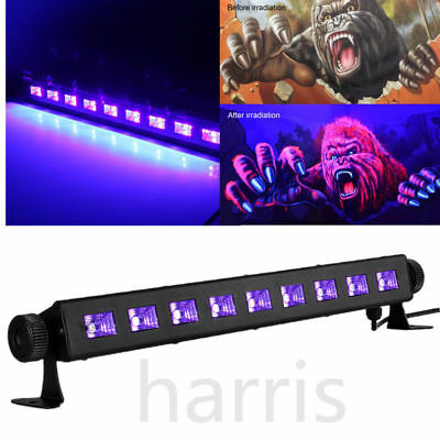 27W UV LED Black Stage Light Bar Wall Wash Disco Halloween Party Lamp Lighting