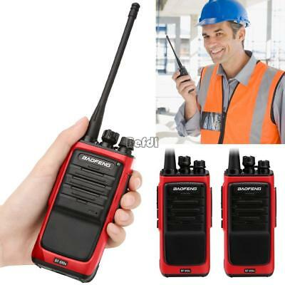 2pc 8W Baofeng Walkie Talkie Long Range 2 way Radio UHF 400-470MHZ 16CH Earpiece